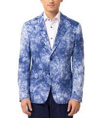 tallia men's slim-fit verdella blue & white sport coat
