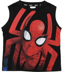 musculosa negra magic marvel spiderman full araãa sudadera