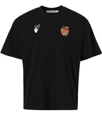 oversized apple logo t-shirt,