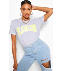 flawless slogan t-shirt, grey marl