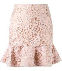 martha medeiros high waist lace skirt - pink