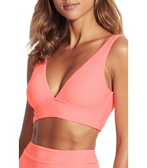 women's seafolly capri sea v-neck bikini top