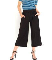 pantalón negro tipo palazzo, tiro alto, bota amplia color-negro-talla-14