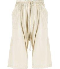 rick owens drkshdw drop-crotch cargo shorts - neutrals