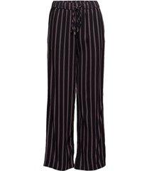 striped pants with slits vida byxor blå saint tropez