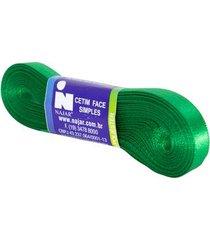 fita de cetim nº02 10mm peça com 10m verde bandeira