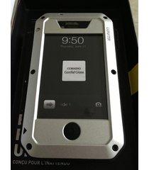 estuche carcasa lunatik taktik extreme para iphone 4 iphone 4s - plateado