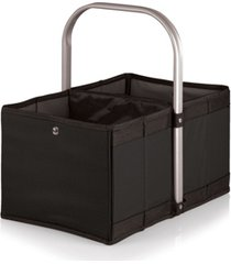 oniva by picnic time black urban basket collapsible tote