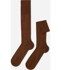 calzedonia tall egyptian cotton socks man brown size 12m