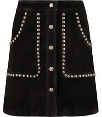 golden goose artemide suede mini-skirt