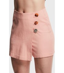 falda tentation mini rosa - calce ajustado