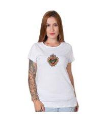 camiseta  sagrado corazon branco
