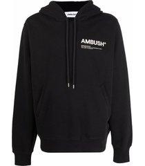 ambush logo-print cotton hoodie