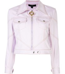 lilac zipped fitted jacket