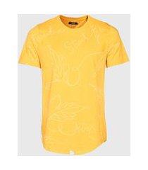 camiseta enfim estampada amarela