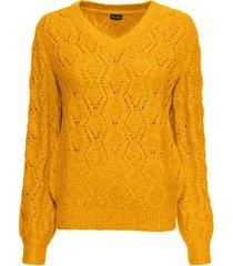 maglione traforato (giallo) - bodyflirt