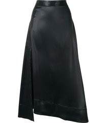 3.1 phillip lim asymmetric draped skirt - blue