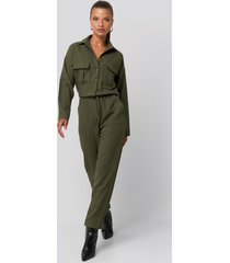trendyol binding detailed jumpsuit - green