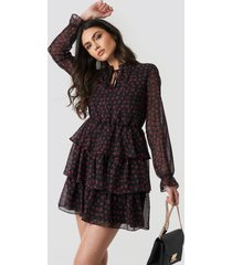 trendyol collar detail mini dress - multicolor