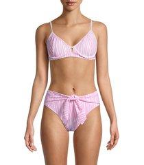 bcbgeneration women's zebra-print underwire bikini top - pink - size s