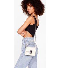 womens want gotta lock to offer mini crossbody bag - nude