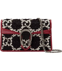 gucci mini dionysus gg tweed shoulder bag - black