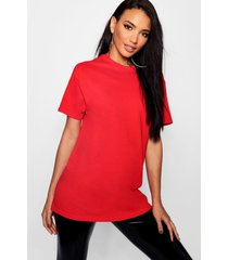 basic oversized boyfriend t-shirt, red