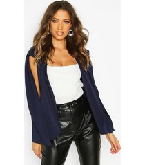 tall cape blazer, navy
