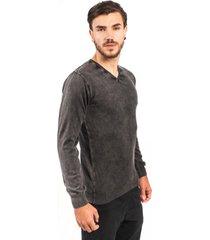 blusa algodão fino tricoport liso grafite