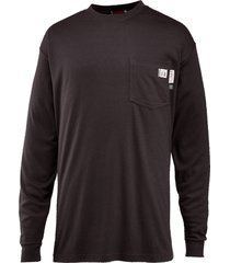 wolverine men's fr long sleeve tee black, size m