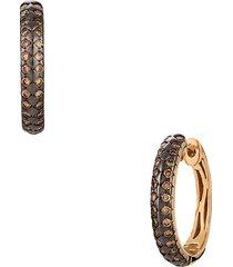 le vian women's chocolatier® 14k strawberry gold® & chocolate diamond® hoop earrings