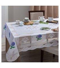 kit 4 toalhas de mesa renda 8 lugares  sortido - bene casa