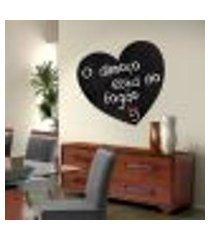 adesivo de lousa para parede coração 03 - p 50x50cm