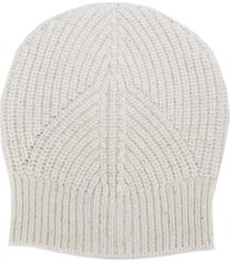 lorena antoniazzi sequin-detail beanie hat - white
