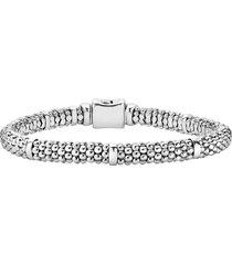 women's lagos caviar rope station bracelet