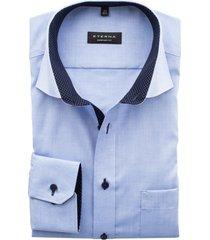 eterna mouwlengte 7 shirt lichtblauw comfort fit