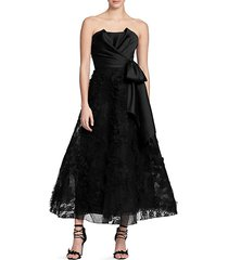 sleeveless tea-length gown