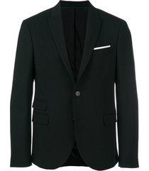 neil barrett blazer com abotoamento - preto