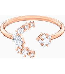 anello aperto penã©lope cruz moonsun, bianco, placcato oro rosa