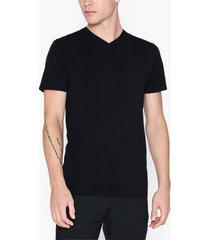 selected homme slhnewpima ss v-neck tee b noos t-shirts & linnen svart