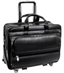 "mcklein franklin 15"" patented detachable wheeled laptop briefcase"