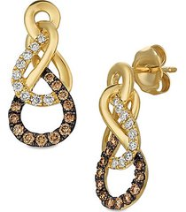 le vian chocolatier figure eight vanilla & chocolate diamond earrings