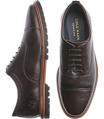cole haan raymond grand dark brown cap toe oxfords