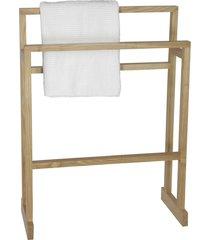 wireworks mezza natural oak towel rail