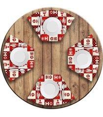 jogo americano   para mesa redonda wevans ho ho ho  love decor - multicolorido - dafiti