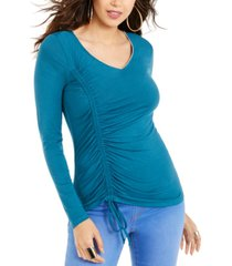 thalia sodi cinch-front rhinestone top, created for macy's