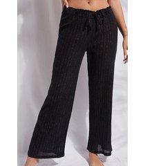 calzedonia lamé palazzo pants woman black size s/m