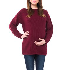 women's nom maternity odette maternity/nursing top, size x-large - purple