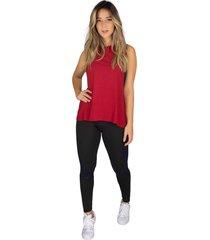 regata rb moda visco vermelho - vermelho - feminino - viscose - dafiti