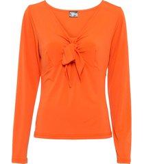 maglia a maniche lunghe con fiocco (arancione) - bodyflirt